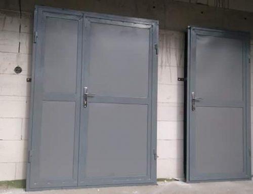 Plechové zateplené dvere